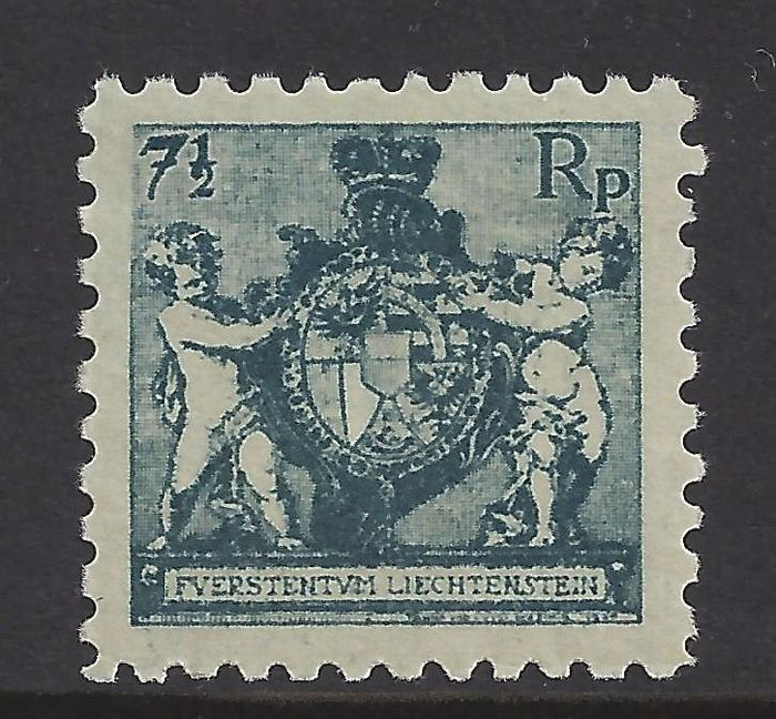 Liechtenstein 1921 - National coat of arms, perforation 9.5 - Michel 49A