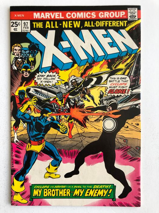 X-Men #97 - 1st Appearance Of Lilandra - Return Of Havok & Polaris - High Grade!!! - Broché - EO - (1976)