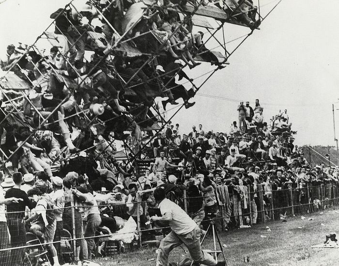 J. Parke Randall (1927-2016) - Audience Scaffolding Collapses, Indianapolis 500, 1960