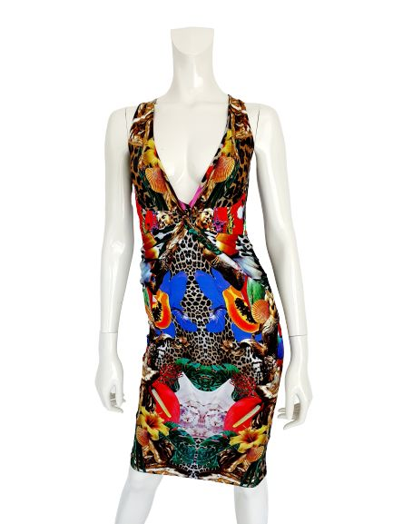 """Philipp Plein - Jersey Dress """"Summer Flowers"""" - New with Tags - Size: S"""
