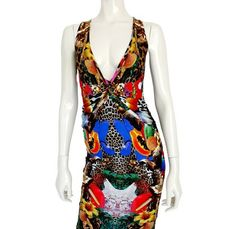 "Philipp Plein - Jersey Dress ""Summer Flowers"" - New with Tags - Maat: S"