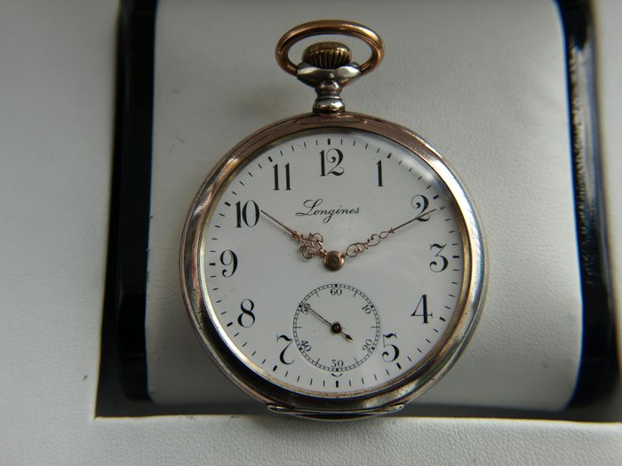 Longines - Silver  pocket watch  NO RESERVE PRICE - 3571266 - Herren - 1901-1949
