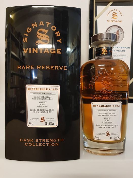 Bunnahabhain 1975 44 years old Cask no. 459 - One of 117 bottles - Signatory Vintage - 70cl