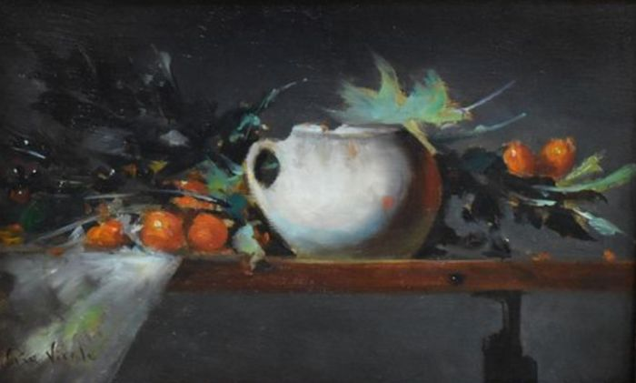 Pia Vitale - 20th-21th century - still life with Chinese bowl