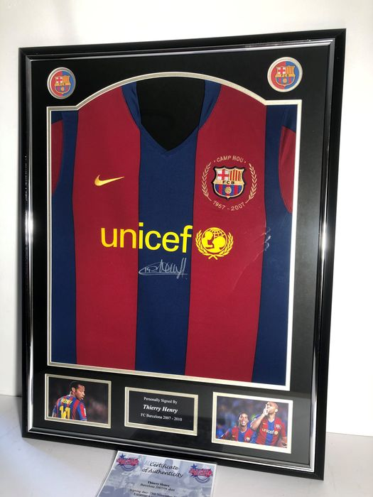 FC Barcelona - European Football League - Thierry Henry - 2007 - Jersey