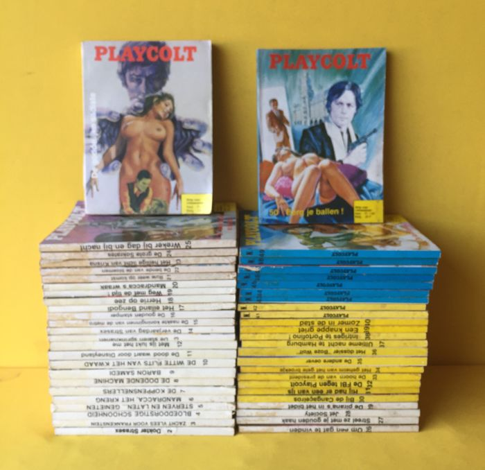 Strippockets voor volwassenen - Playcolt 1 t/m 50 - Softcover - First edition - (1975/1979)