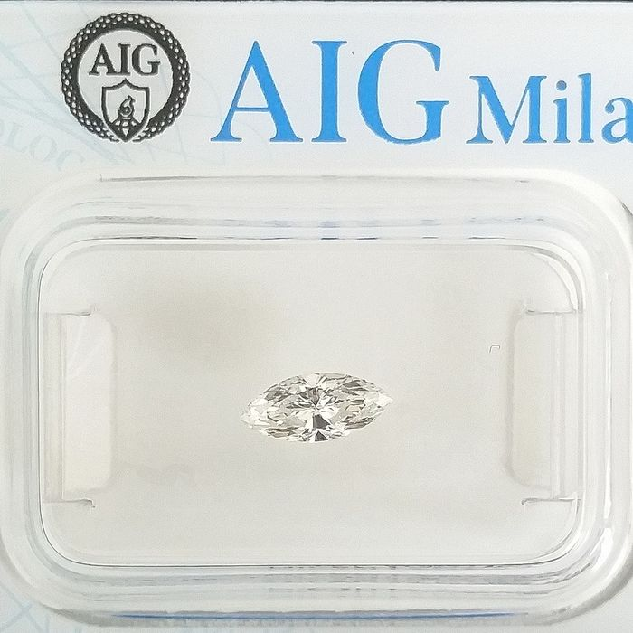 1 pcs Diamonds - 0.33 ct - Marquise - F - VVS1, ***No Reserve Price***