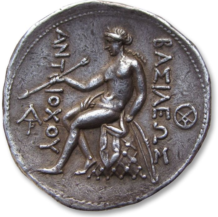 Greece (ancient) - Seleucid Kingdom. AR Tetradrachm,  Antiochus I Soter - high relief, 5mm thick - Seleukeia on the Tigris, 281-261 B.C. - rare in this high quality - Silver