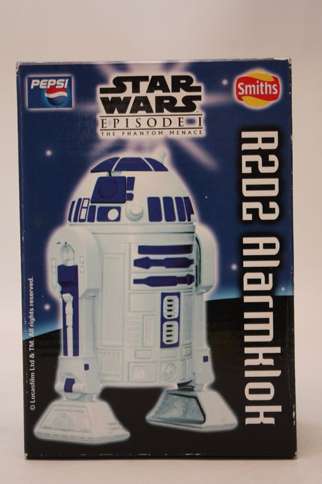Star Wars - Episode 1 The Phantom Menace - 1999 Promotional R2-D2 Alarm Clock with projection  - Pepsico