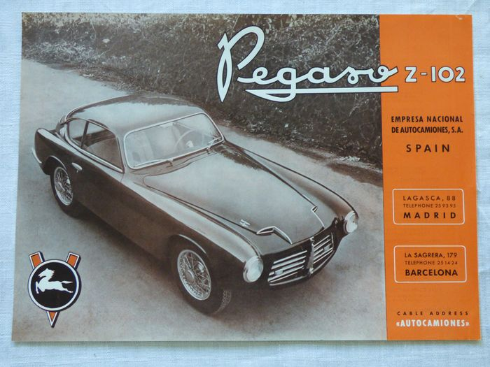 Pegaso Z102 catalog (Touring) and 17 Pegaso photos - Espagne - 1950-1960