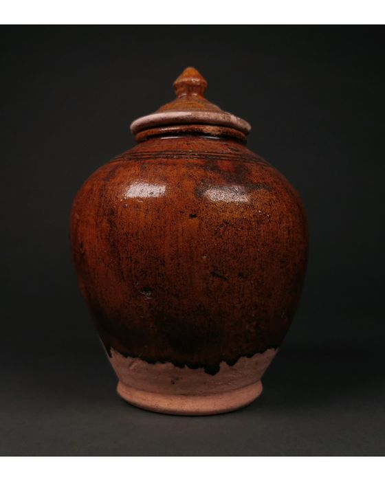 Lided Jar - Glasiert - China - Tang Dynastie (618-907)