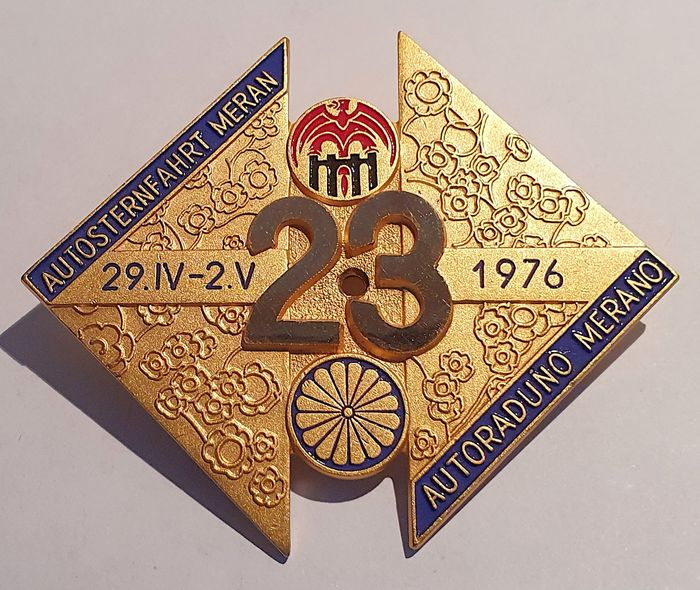 Decorative object - Grille Badge - 14e Autoraduno Merano (Autosternfahrt Meran) - 1976