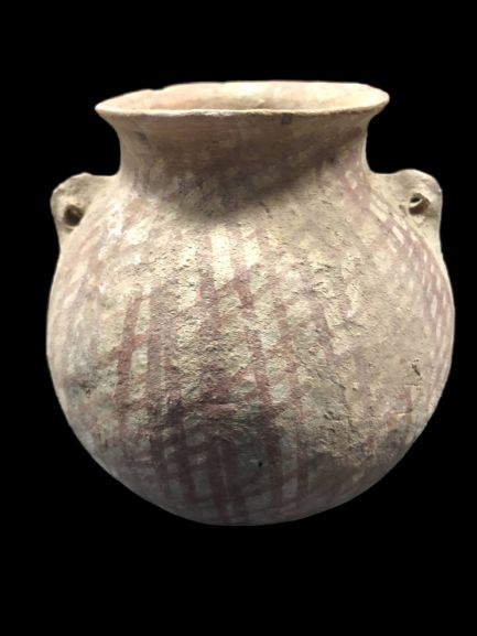 Holy Land (Canaanite) Pottery painted jar, 11,5 x 10,5 cm