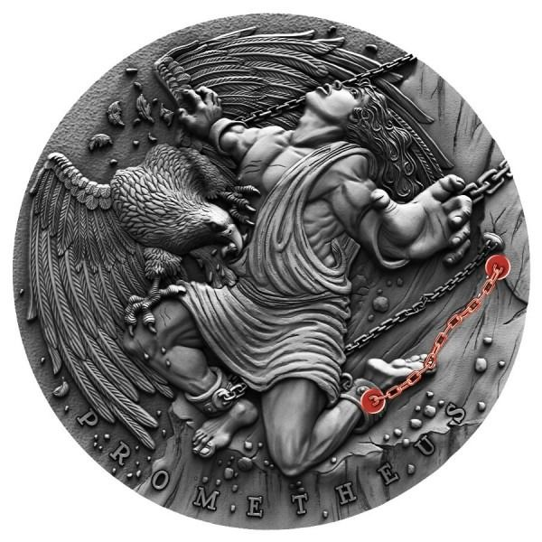 Niue. 5 Dollars 2019 Ancient Myths Prometheus Antique Finish - 2 oz