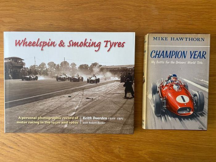Books - Mike hawthorn Champion year 1959 & Wheelspin and Smoking Tyres Goodwood - Motor Racing  Mike Hawthorn - 1950-1960