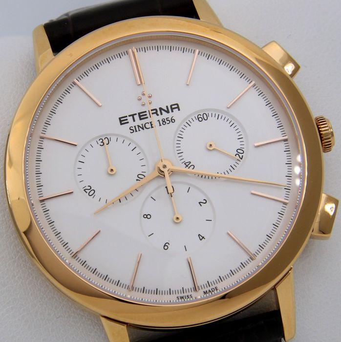 "Eterna - Elegant Chronograph ""Gold Tone""  - SWISS MADE - ""NO RESERVE PRICE"" - - 2760 - Men - 2011-present"