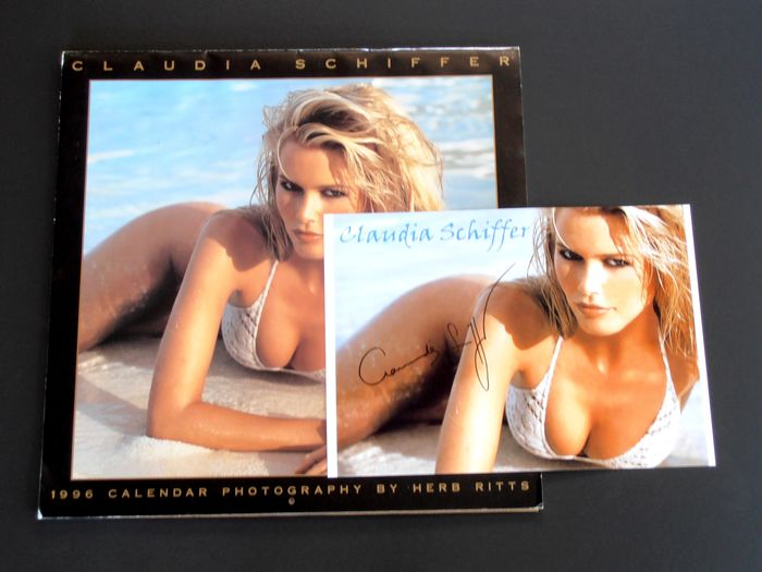 Herb Ritts - Claudia Schiffer. Calendar 1996 [with signed photo] - 1996