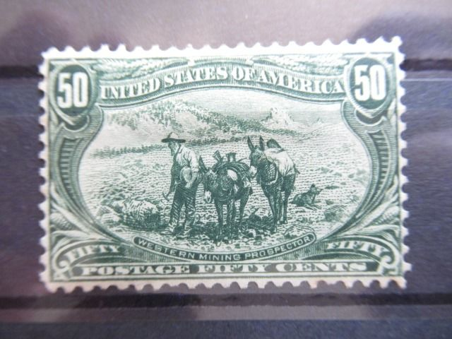 United States of America 1898 - Gold seekers, 50 centimes grey green. - Yvert n°135