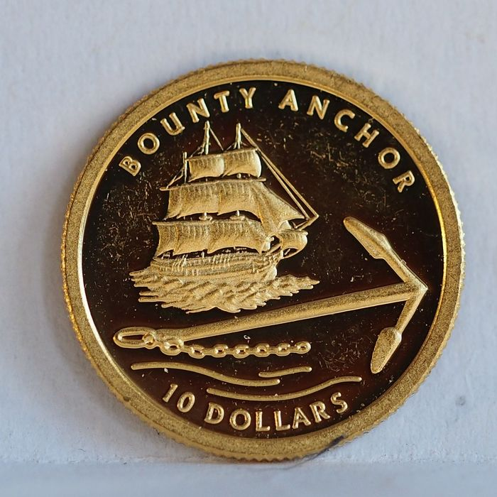 Pitcairn Islands - 10 Dollar 2007 - Bounty Anchor - 1/25 Oz - Gold