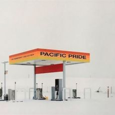 Mark Power (1959-) - Gas station in a snowstorm (Touchet, Washington, USA, February 2019
