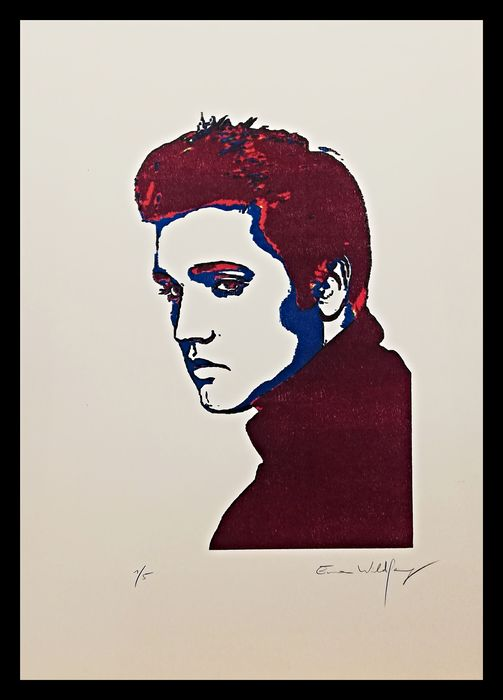 Elvis Presley - by Emma Wildfang - Artwork/ Painting, Limited edition - 2020/2020