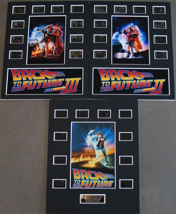 Back to the Future - Set of 3 - Trilogy - Film Cell Displays