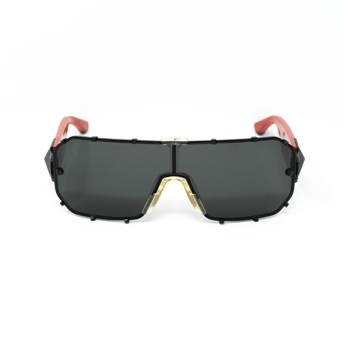 "Giles Deacon - Shield Red Black With Category 3 Dark Grey Graduated Lenses 9GILES1C4RED ""NO RESERVE PRICE"" Sunglasses"