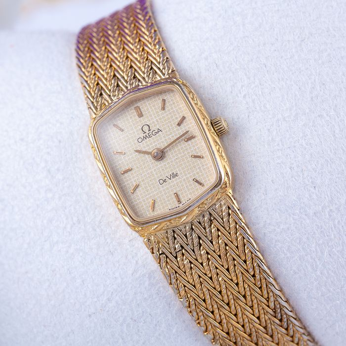 "Omega - De Ville - 18K GP - ""NO RESERVE PRICE"" - Women - 1980s"