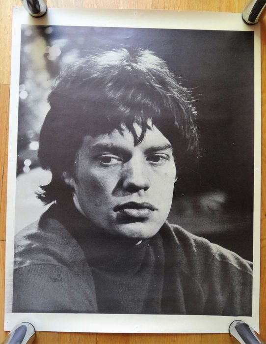 Mick Jagger - rare end 60's poster - Original 1st print poster - 1969/1969