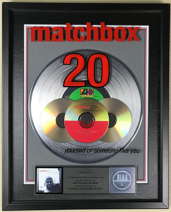 Matchbox 20 - Yourself Or Someone Like You - Official RIAA award - 1998/1998