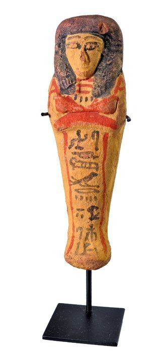 Ancient Egyptian Terracotta Shabti of Djehutimes, the high priest of the temple of Thot. With TL Test.