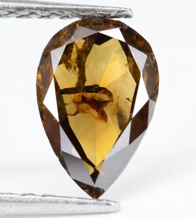 Diamond - 1.10 ct - Natural Fancy Intense Brown - I2  *NO RESERVE*