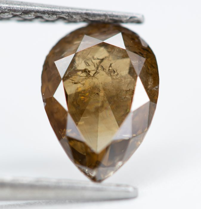 Diamond - 0.88 ct - Natural Fancy Brown - I2  *NO RESERVE*