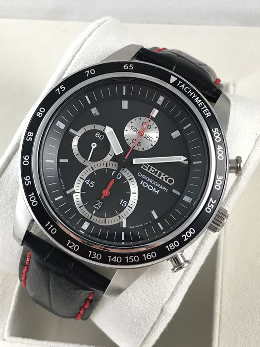 """Seiko - """"NO RESERVE PRICE"""" 1/20 Chronograph Sport Red Dial  - 7T92-0NW0 - Men - 2011-present"""