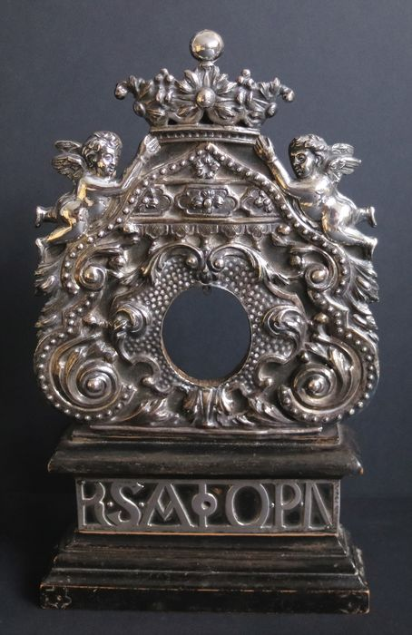 Monstrance, Reliquary - Solid silver - Late 18th century