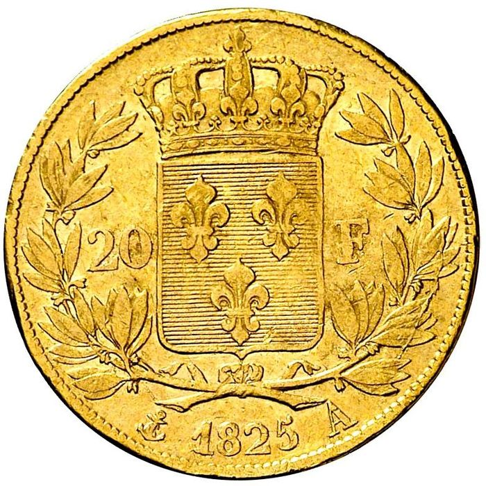 France - Charles X - 20 Francs 1825-A (Paris) - Gold