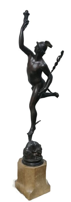 After Giambologna - Mercury, Sculpture (1) - Patinated bronze - First half 20th century