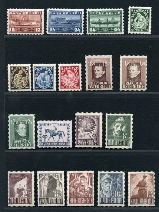 Austria 1910/1955 - Several sets of the period