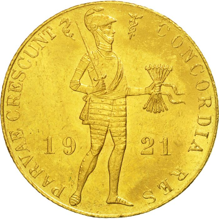 Netherlands - Ducat 1921 - Gold