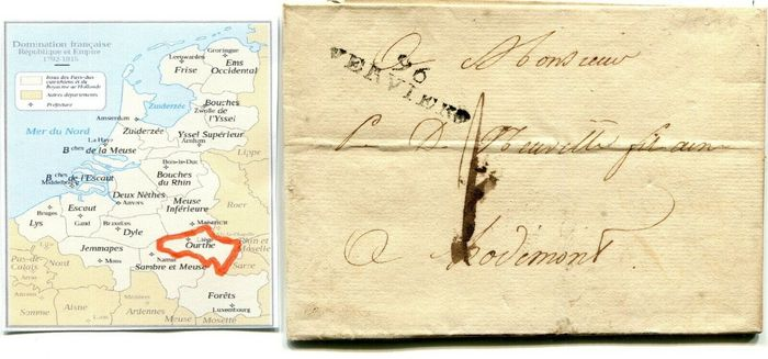 Belgium 1849 - Lot of forerunners 11 letters with interesting and rare cancellations - OBP / COB /