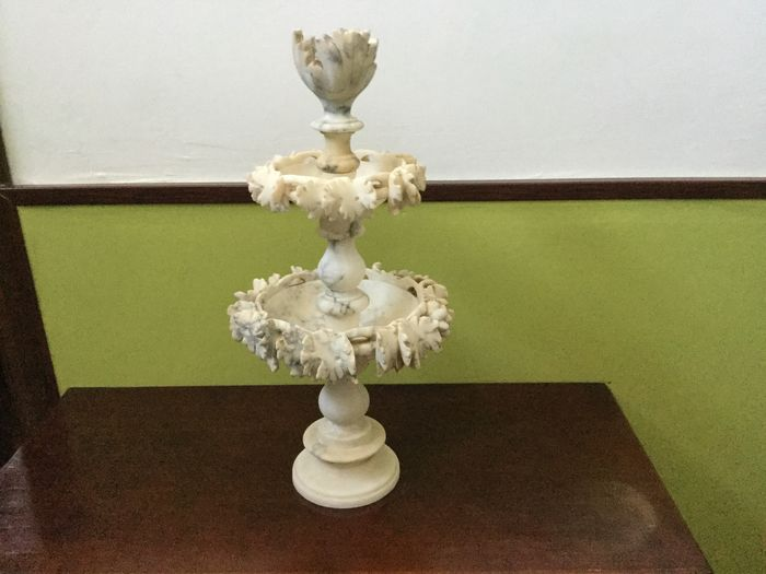 Centerpiece stand Alabaster Late 19th century Catawiki