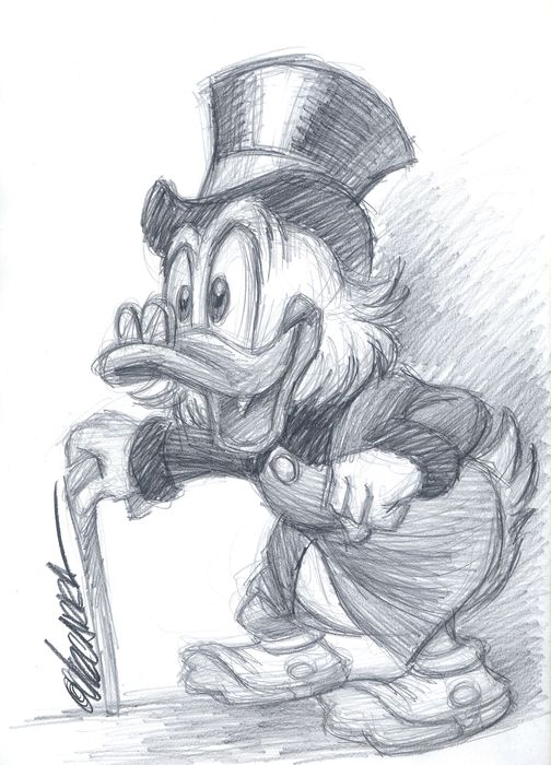 Uncle Scrooge - Original Sketch - Joan Vizcarra - Original Art