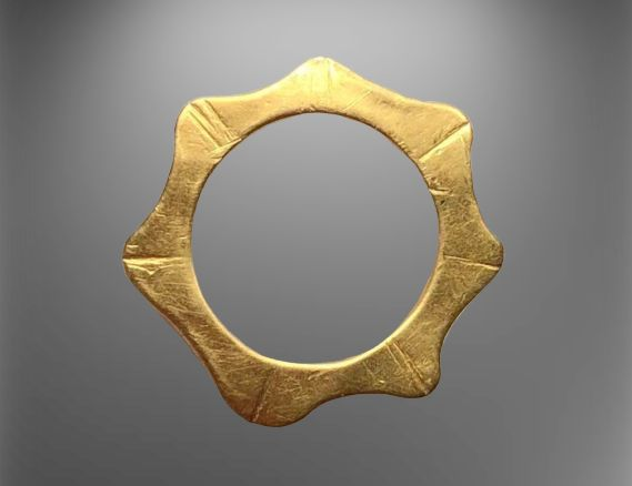 Viking Gold Excellent Openwork Solar Amulet with a Lovely shape of the Sun.