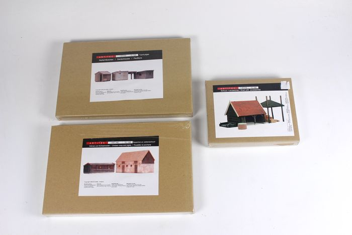 Artitec H0 - 10.188/-198/-199 - Scenery - 3 construction kits with sheds and gazebos