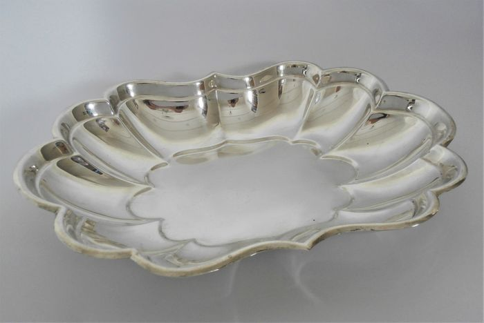 Silver bread bowl with lobed motifs - .925 silver - Reed & Barton - U.S. - Mid 20th century