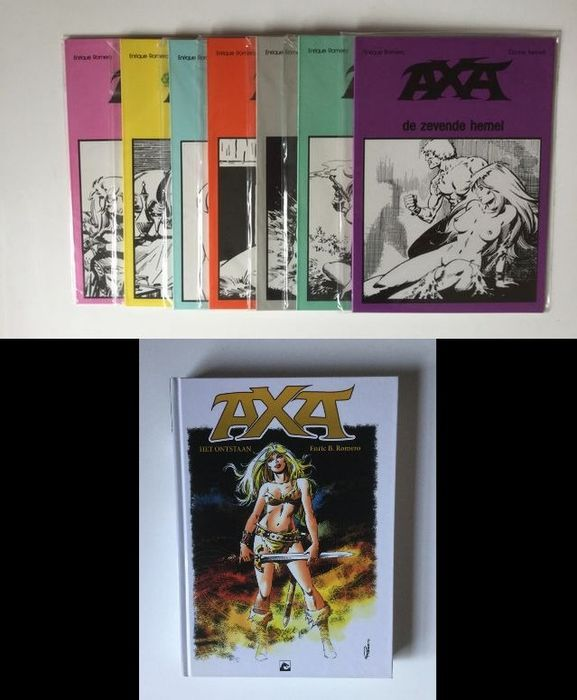 Axa 1 t/m 7 (softcover) + Het ontstaan (hardcover) - Complete reeks - Softcover - First edition - (1983/2015)