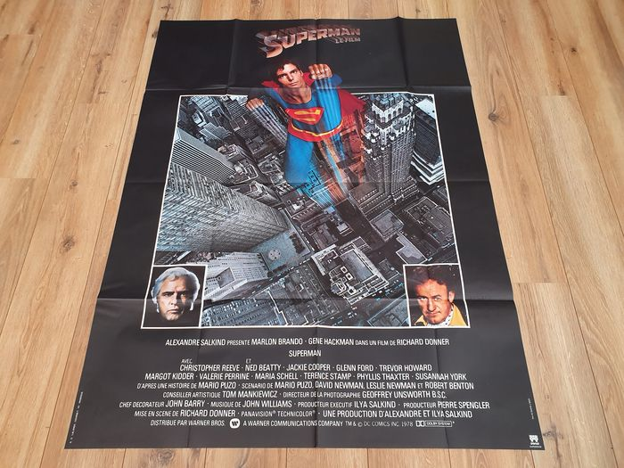 Superman The Movie (1978) - Christopher Reeve - Poster, Original French Cinema release