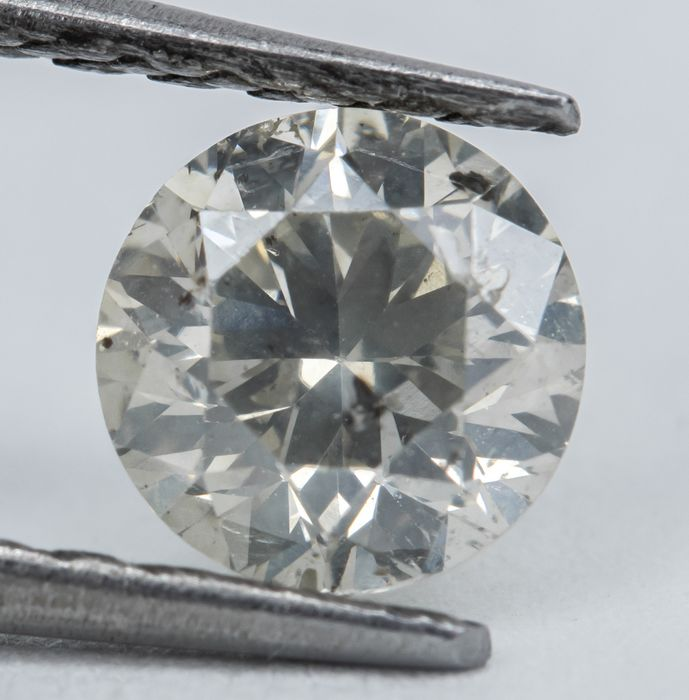 Diamond - 0.60 ct - Natural Fancy Faint Grayish Yellow - I1  *NO RESERVE*