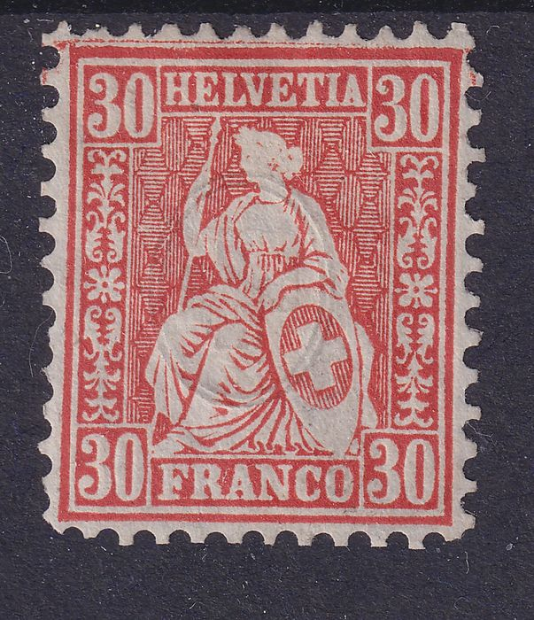 Switzerland 1862 - Sitting Helvetia - Zumstein 33