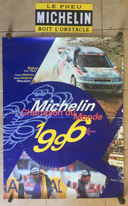 Plaque + Advertising poster - Michelin - 1990-2000